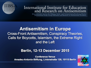 conference antisemitism in europe